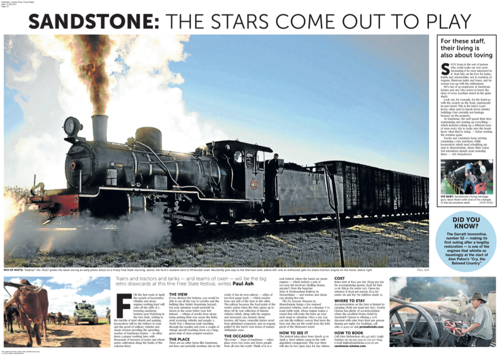 Stars of Sandstone Sunday Times
