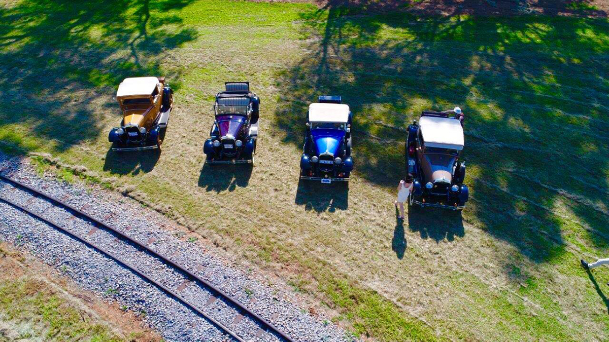 Model A's from the air Picture by Gary McCrystal