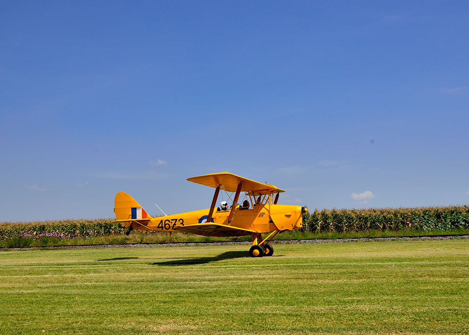 Tail up in the Tiger Moth as she takes to the sky Picture by Gary McCrystal