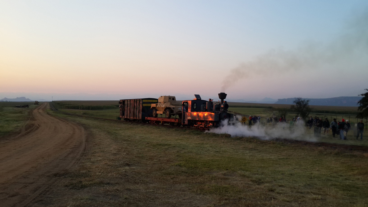 The early morning photo train with Feldbahn 498 catching the dawn sun Picture by Dave Richardson