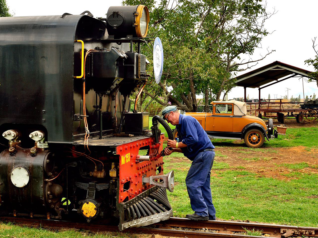 Australian driver, Graham Swanson secures the brake pipe on NGG16 153 Picture by Gary McCrystal