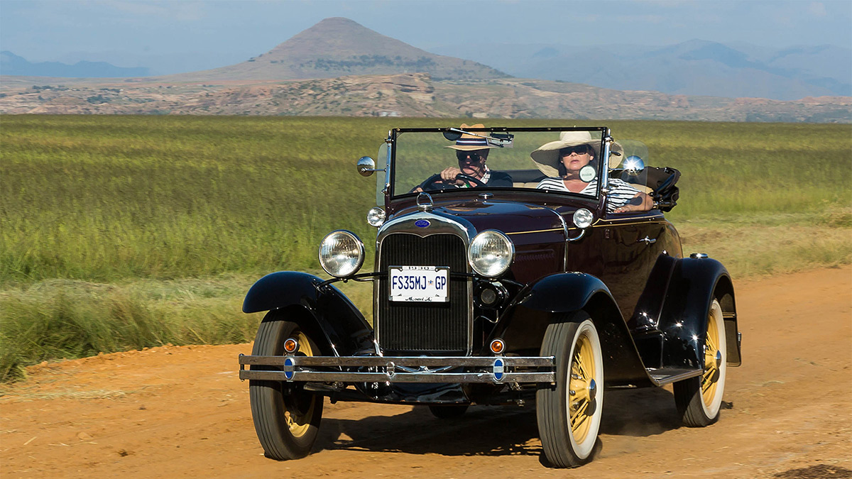 A 1930 Ford Model A Convertible from the Model A Car Club of South Africa