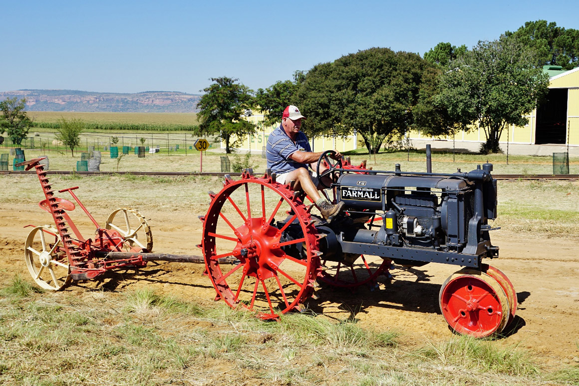 Farmall stretching it's wheels