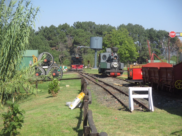 A peaceful scene at the loco depot