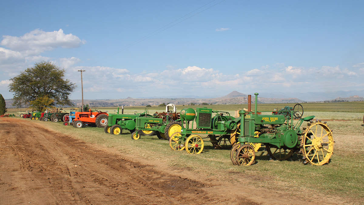 A tractor line up for the new day