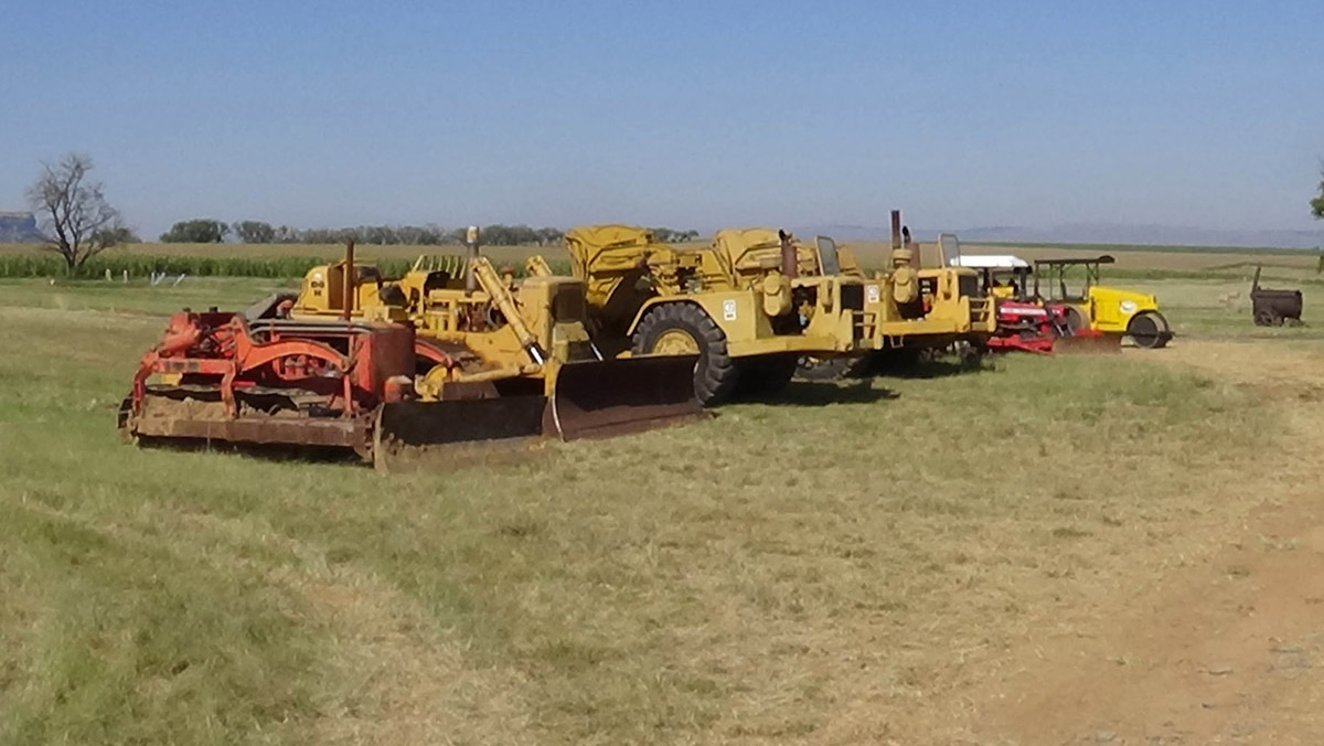 Earthmovers ready to move